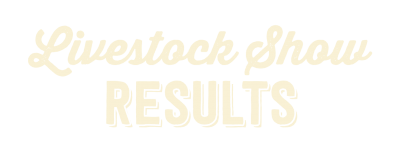 Livestock Show Results