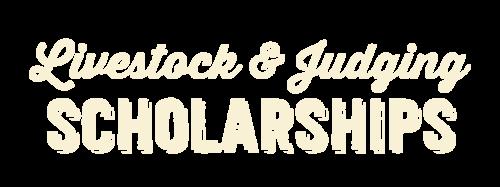 Livestock & Judging Scholarships