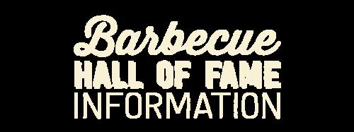BBQ HOF Information