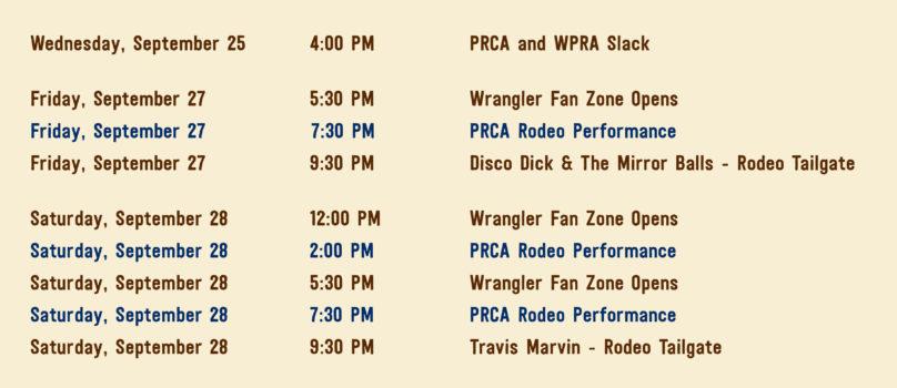 Nfr Calendar.Pro Rodeo American Royal